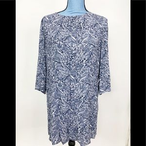 H&M Shift Dress  Size 6 Blue Lined Long Sleeve